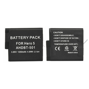 Image 2 - 2pcs Full Decode Hero 8 7 Black Hero 6 5 Battery+LCD Dual Charger For GoPro Hero 5 6 7 Black Go Pro 8 Charging Accessories