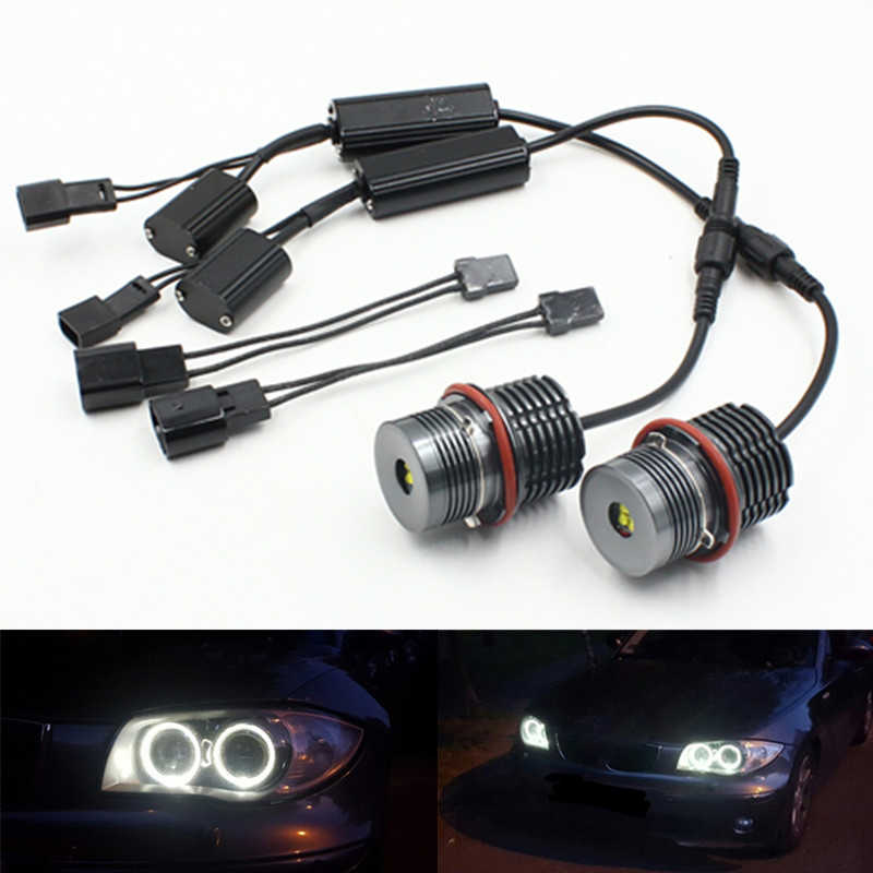 For BMW E39 E87 E60 E63 E65 E66 E53 X5 E83 Angel Eyes Halo Ring LED Light Bulbs