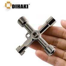 Multi function 4 In 1 Universal Cross Key Triangle Key for Train Electrical Elevator Cabinet Valve Alloy Triangle Square