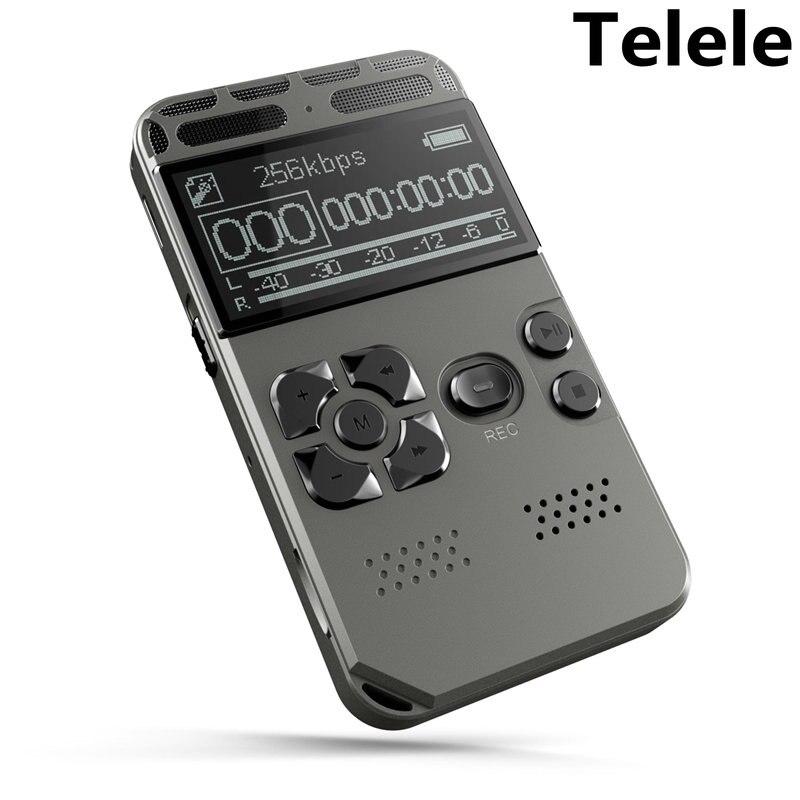 קול הופעל קול דיגיטלי מקליט Mp3 נגן 32GB מוסיקה נגן כרטיס אחד-כפתור שיא רעש הפחתת דיקטפון V35