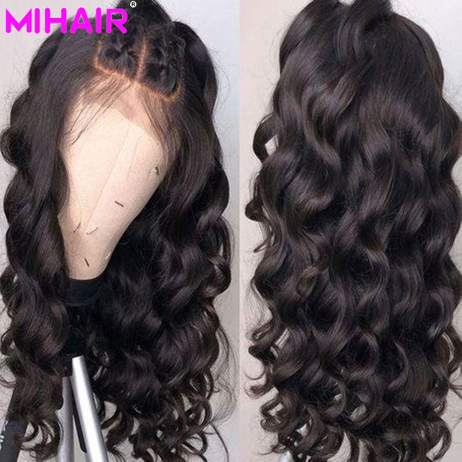 Lace Front Human Hair Wigs Pre Plucked 13x4 Brazilian Loose Wave Wigs With Baby Hair For  Black Women Remy Extensions