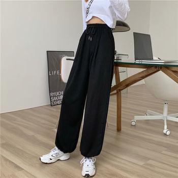 Gray Sweatpants for Women 2021 Autumn New Baggy Fashion Oversize Women Sports Pants Balck Trousers Joggers Streetwear 4