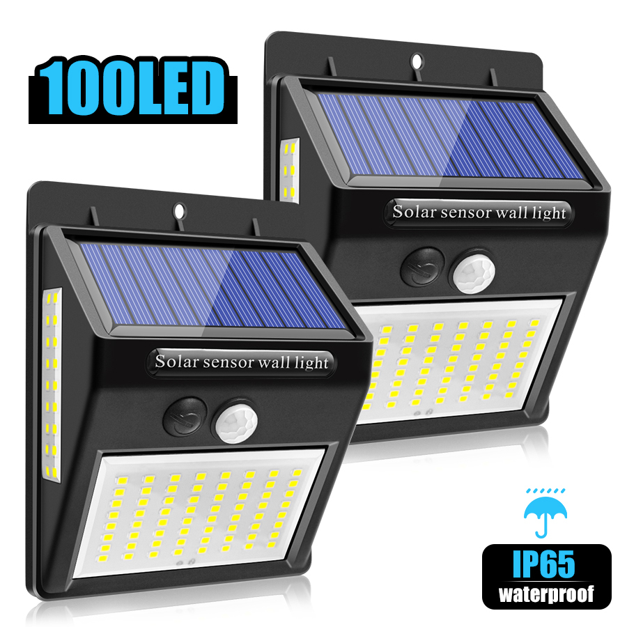 Solar and USB Powered Outdoor Light with 110 LEDs in 3 Lighting Modes and 90 to 120 Degree Sensor Angle 4