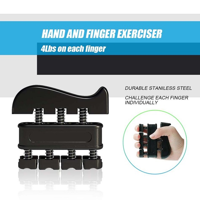 WorthWhile 5PC/Set Gym Fitness Adjustable Hand Grip Set Finger Forearm Strength Muscle Recovery Hand Gripper Exerciser Trainer 6