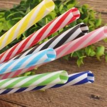 5/10pcs Color Striped Plastic Pp Hardened Straws Plastic Threaded 19cm Buckle Straws Food Mason Straws