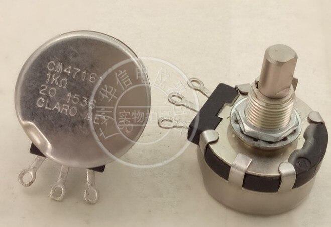 [VK] CLARO MEXICO CM47161 1K eixo + comprimento da rosca 21MM único potenciômetro interruptor