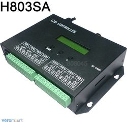 H803SA Led Programmierbare Controller PC Software 8192 Pixel Verbinden zu DMX512 Controller 8port Off-line Sd-karte Controller