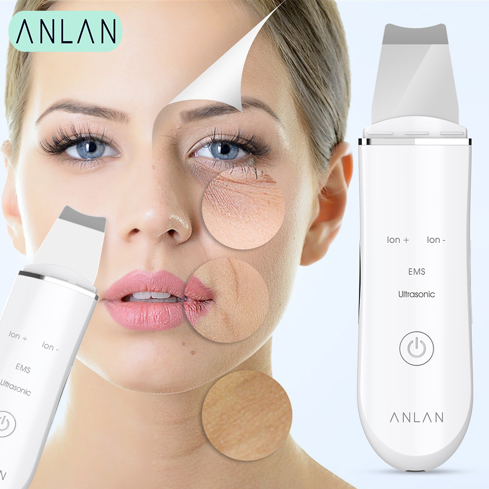 Ultrasonic Face Skin Scrubber Face Cleaning Peeling Vibration Blackhead Removal Exfoliating Pore Cleaner Tools Cleaner Face Skin