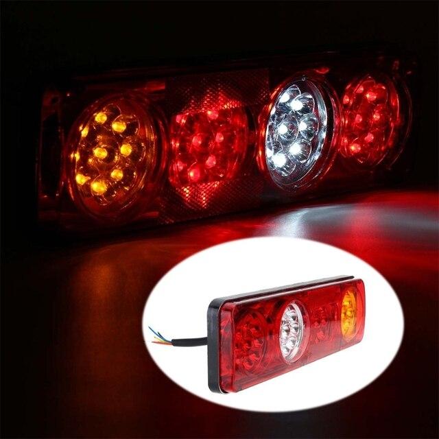1 Đôi Chống Thấm Nước Xe Tải Xe Tải 12V 24V 36 Đèn LED Dây Tóc 3 Màu Chỉ Báo Đèn Sau Cho Xe Tải xe Kéo Xe Phụ Kiện