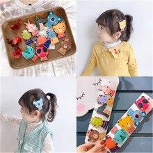 Korean PU Cartoon Animal Cute Kids Children Girls Fall Winter BB Hairpins Hair clips Head wear Hair Accessories-SWC5-W7 цена и фото