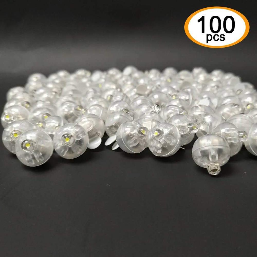 100 X круглые светодиодные лампы Led вспышкой шар светильник продолжительное время работы в режиме ожидания: для бумажный фонарь воздушный шар...