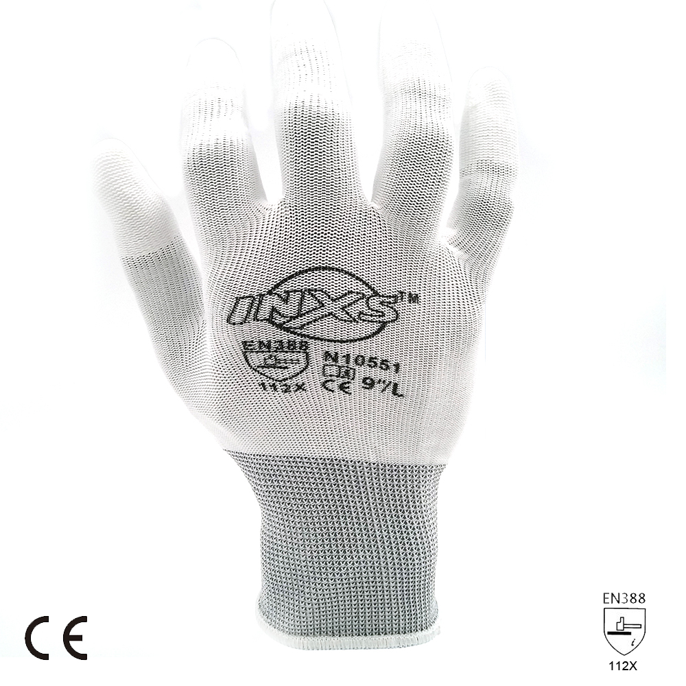 SAFETY-INXS EN388 Polyester PU Coated Breathable Safety Work Gloves 13 Gauge Mechanic Working Gloves L