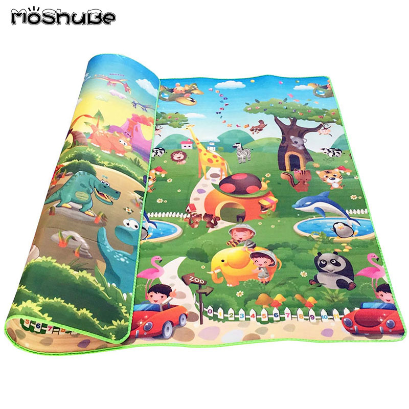 0 5cm Double Side Baby Crawling Play Mat Dinosaur Puzzle Game Gym Soft Floor Eva Foam Innrech Market.com