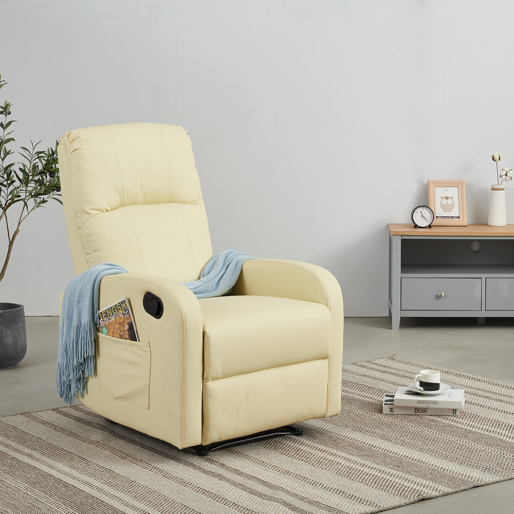 Panana Comfortable Fabric Recliner Armchair Relax Armchair With Footrest Push Opening System Garden Nap Chaise Lounge