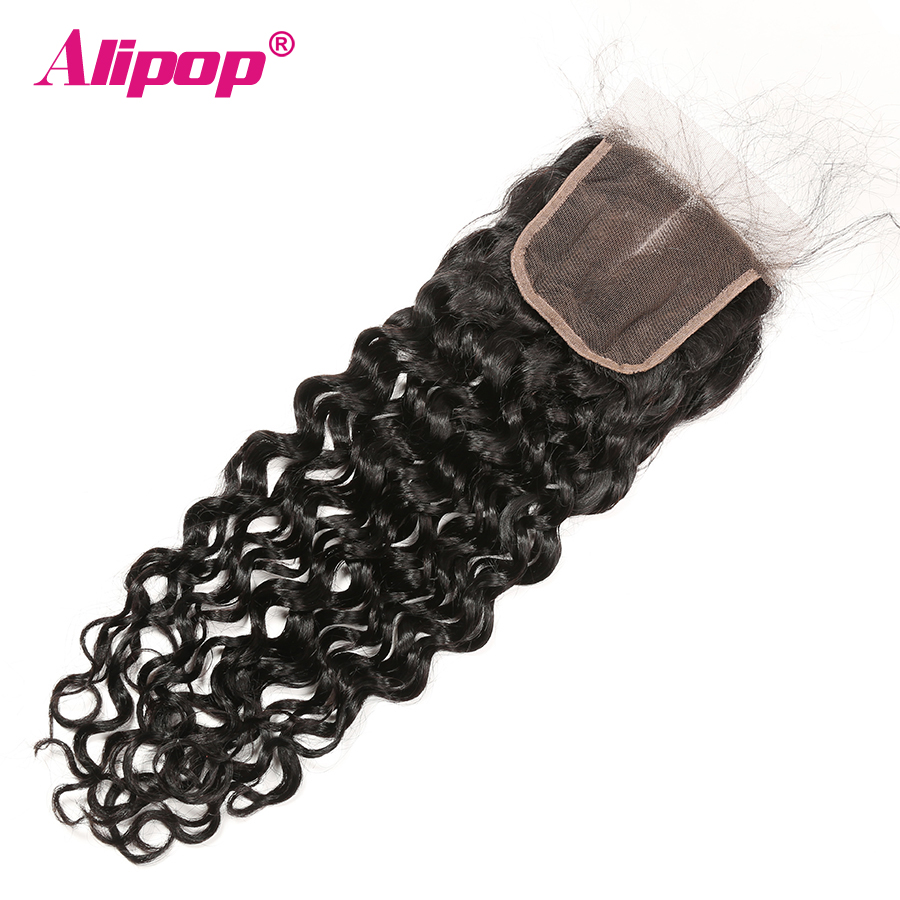 Water Wave Bundles With Closure Can Customize Into A Brazilian Water Wave Curly Wig Remy Human hair Bundles With Closure ALIPOP (6)