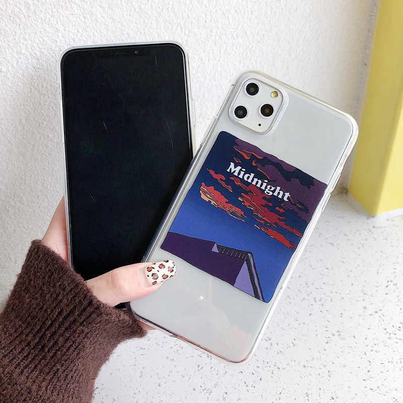 Illustration d'art dessiné à la main Téléphone étui pour samsung Note 10 plus 8 9 s10e s9 s8 s7 S10 A5 A8 A30 A50 A80 A90 Clair Couverture Souple