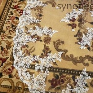 Image 5 - ผ้าคลุมหน้าเจ้าสาวสีขาวงาช้างงานแต่งงานหวีใหม่เจ้าสาวอุปกรณ์เสริม