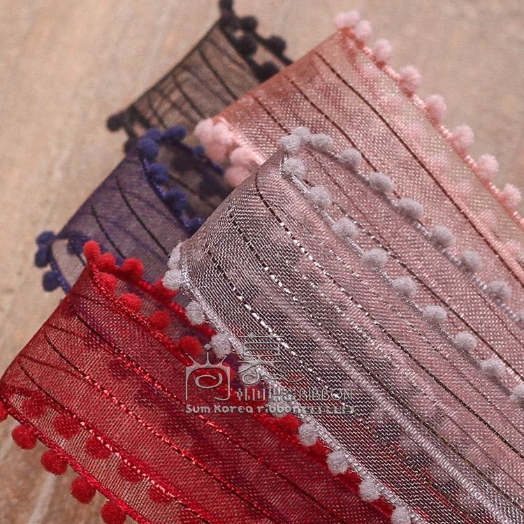 100yards 10 16 25 38mm double velvet picot mesh organza sheer ribbon for hair band diy accessories party craft supplies in Ribbons from Home Garden