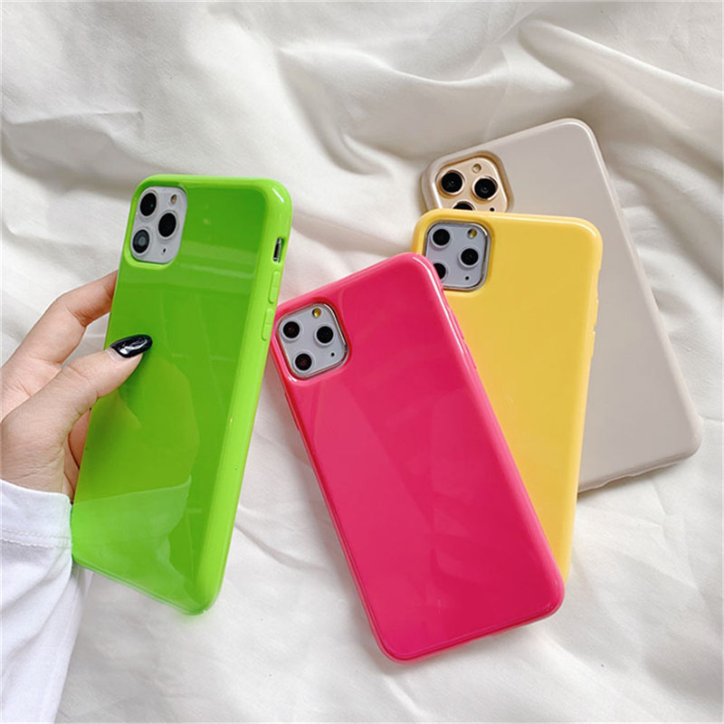 Moskado Fashion Candy Color Phone Cases For iPhone 11 Pro Max X XR XS 8 7 6 6s Plus Simple Plain Color Soft TPU Case Back Cover