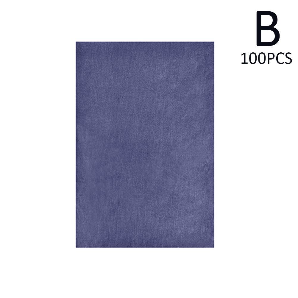 100 шт./компл. A4 Карбон копировальная бумага картины отслеживание Бумага графит картина многоразовые картина аксессуары четкой отслеживания - Цвет: B