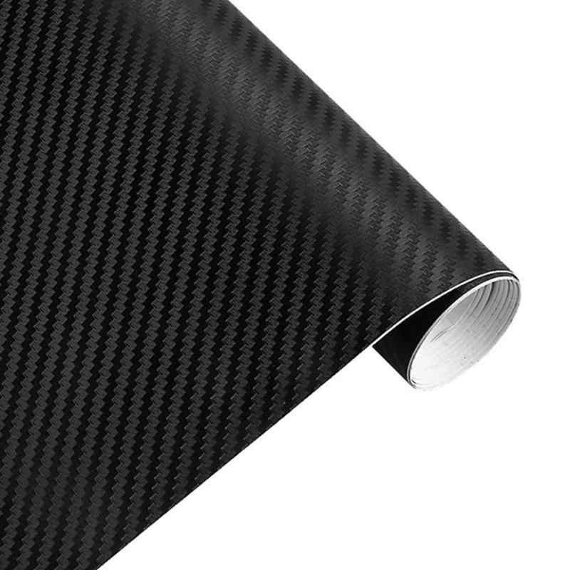 VODOOL 127cm vinilo 3D de fibra de carbono envoltura de coche rollo de película Calcomanía para auto, motocicleta pegatinas de estilo de coche accesorios