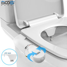 Bidet Toilet-Seat Bidet-Attachment Brass Non-Electric Adjustable Ultra-Slim Water-Pressure-Self-Cleaning