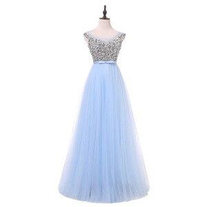 Image 4 - אלגנטי גבירותיי ללא משענת משתה שמלת ערב קצר וארוך אופנה שושבינה חתונה ורוד שמלת vestidos דה פיאסטה