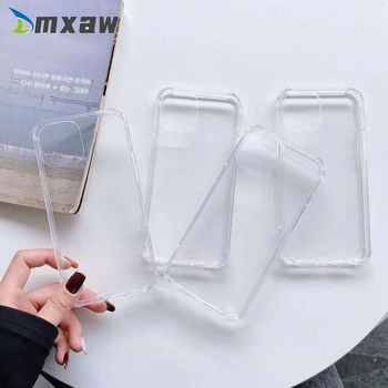 Clear Phone Protection Case For Samsung Galaxy A01 Core A11 M11 M31 M21 M30S J120 J510 J6 J4 Plus Case Silicone Soft Cover image