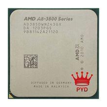 Amd A8-Series A8-3850 quad-core cpu 2.9g desktop conjunto exibir apu ad3850wnz43gx a8 3850 soquete fm1 905pin frete grátis