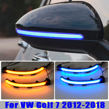 Flowing Water Blinker Side Mirror Flashing Light LED Dynamic Turn Signal Light For VW Golf 7 MK7 7.5 GTI R Sportsvan Touran L II