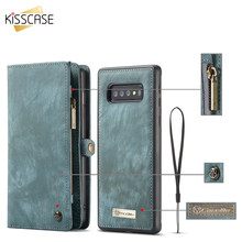Leather Flip Case For Samsung Note 10 Plus A70 A40 A50 A80 A90 Wallet Cover For Samaung Galaxy S10E S9 S8 Plus S7 Edge Note 9 10(China)