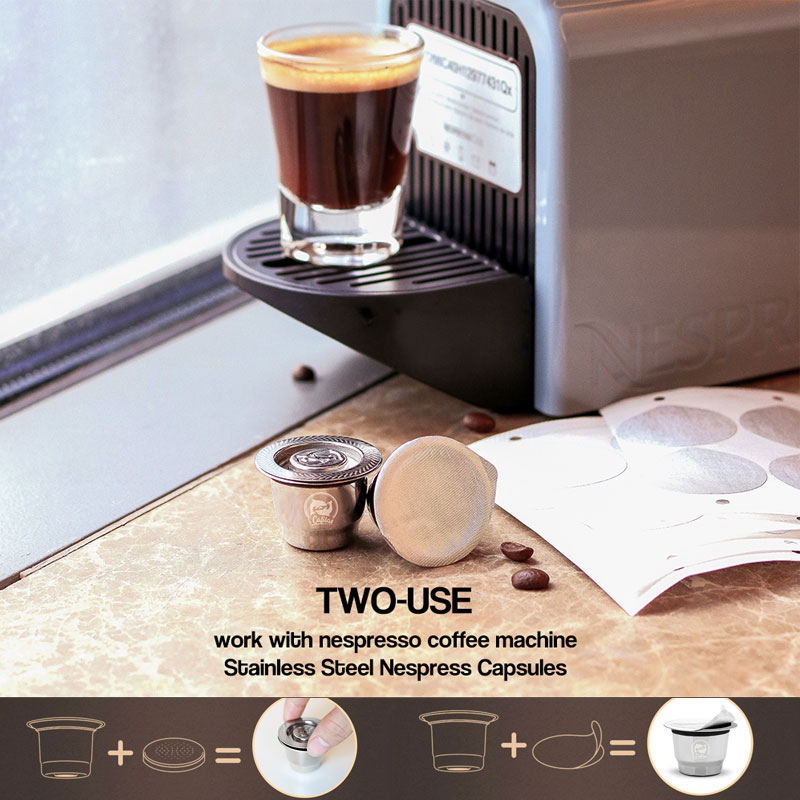 Upgraded Crema Maker Coffee Capsules For Nespresso Coffee Filters Tamper For Espresso Reusable Refillable Baskets