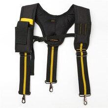 Black Suspenders For Men Y Type Tooling Suspender Can Hang Tool Bag Reducing Weight Strap Heavy Work Tool Belt Braces Suspenders