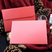 Wysoko spersonalizowany ekskluzywny biznes ślubny 250g gruby pozłacany duży czerwony perłowy papier koperta tanie tanio CRANEKEY CN (pochodzenie) customized 250ZG0072 Okna koperty Zwykłym papierze Prezent koperty
