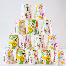 8 ชิ้น/ล็อตถ้วยกระดาษ Mermaid Theme Happy Birthday Party Disposable Tableware (China)