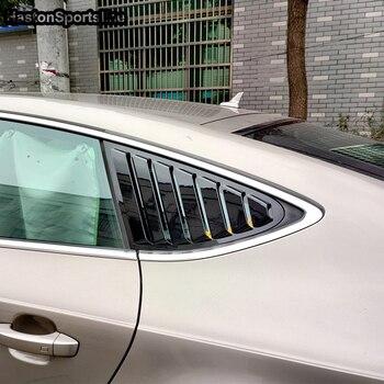 A7 Rear Window Fender Gloss Black Side Vent Shield For Audi A7 S7 2009~2017