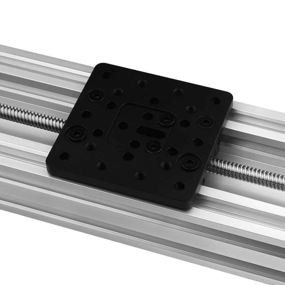 Perfil de alumínio z-axis 4080u, parafuso de alumínio 250mm/300mm/350mm40 0mm/450mm kit de atuador linear de mesa deslizante para roteador cnc durável