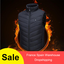 Heating Vest Washable Usb Charging Heating Warm Vest  Control Temperature Outdoor Camping Hiking Golf (Without Battery) original xiaomi mijia pma graphene multifunctional heating men vest washable warm business waistcoat for adult man