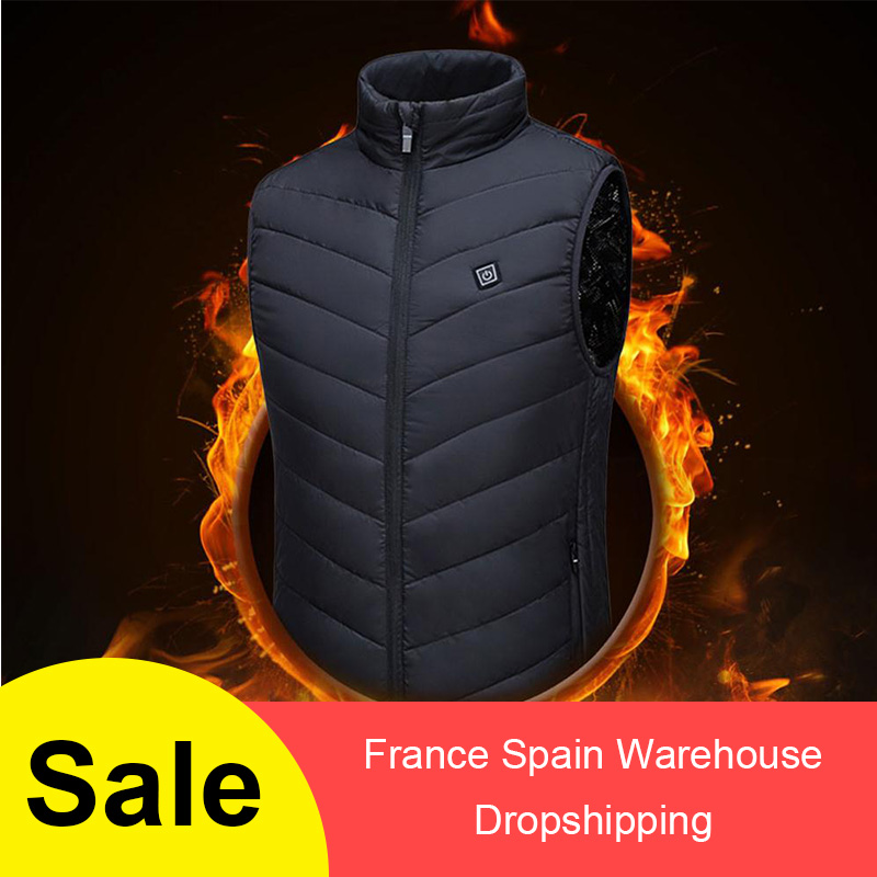Winter Men Women Outdoor USB Infrared Heating Vest  Control Temperature Outdoor Camping Hiking Golf Warm Jacket Hiking Riding