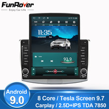 "Funrover 9.7 ""Tesla Screen Android 9.0 Voor Volkswagen Passat B7 B6 Cc Magotan 2010-2015 Auto Radio Multimedia video Speler Dvd Gps(China)"
