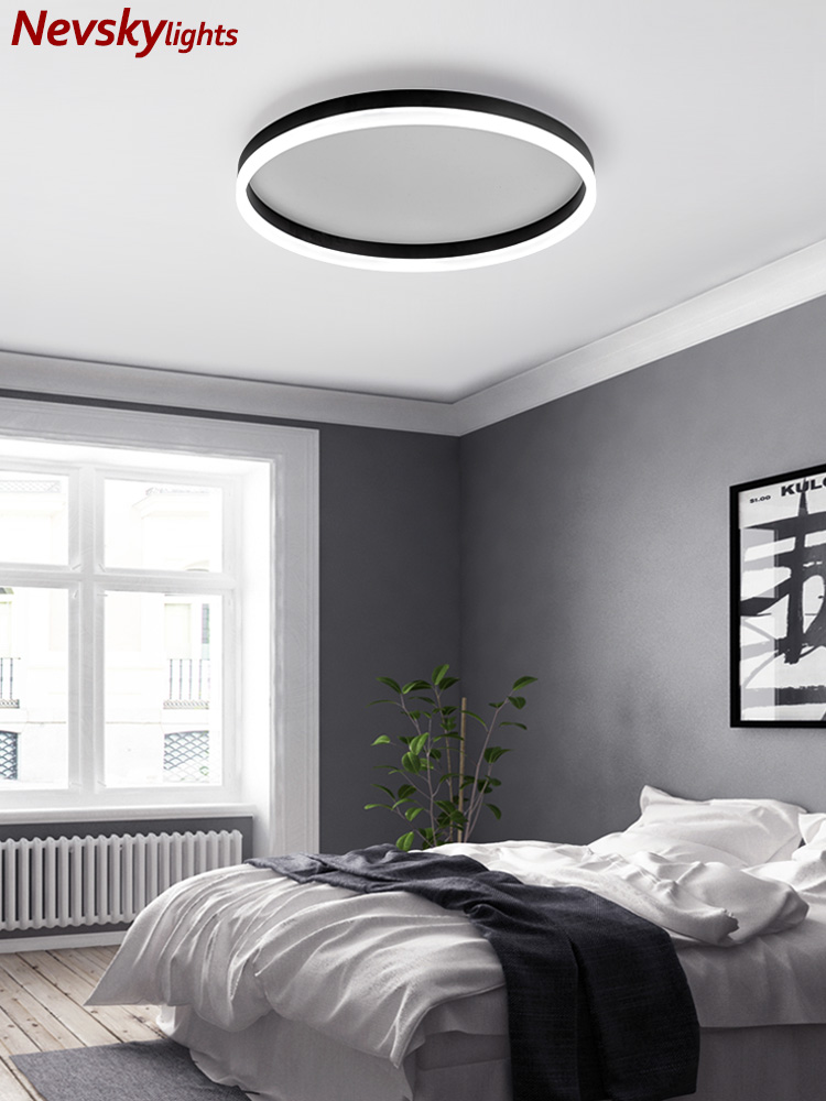 Led luces de techo dormitorio moderna iluminación de techos habitación círculo pasillo de la lámpara del techo led cocina accesorios variable de la luz Lámpara led downlight 10w 230V 110V downlight con atenuación luces empotradas en el techo panel led redondo luz inteligente luz descendente wifi