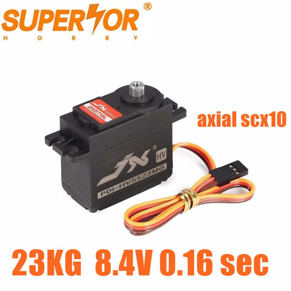 PDI-HV5523MG JX 23KG Servo 8.4V 0.16 sec Metal Gear Standard Servo for 1:8 1:10 RC car robot airplane PDI-6225MG-300 axial scx10 image