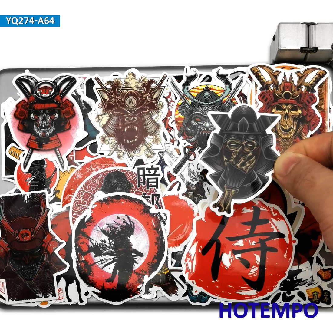 60 adet japonya Samurai Bushido ruhu tarzı sanat çıkartmalar cep telefonu Laptop onarım istasyonu gitar bavul kaykay bisiklet araba süslü çıkartmalar