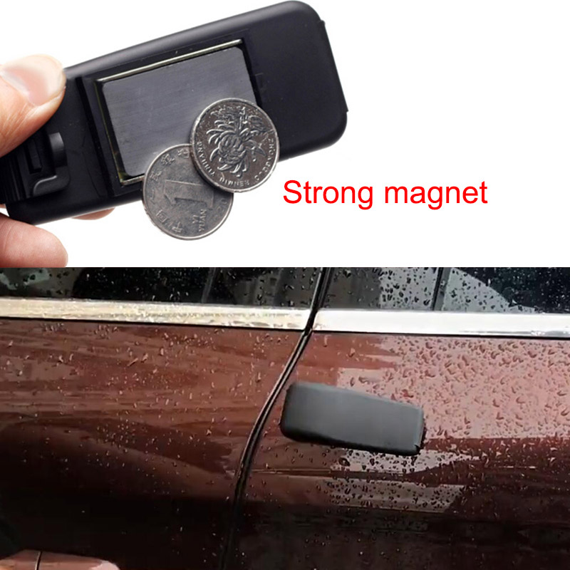 Hidden Spare Key Box Powerful Car Chassis Magnet Type Thin Key Box  Outdoor Magnet Adsorption Portable Safe Box Car Accessories
