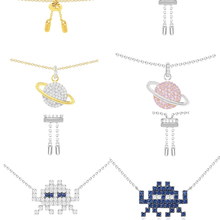 Ailie high quality 1:1 original 925 sterling silver necklace A fun robot planet modeling PM ladies fashion jewelry party gifts