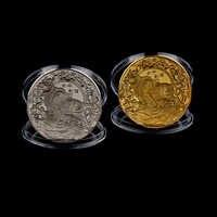 Uds oro/plata de Año Nuevo de 2021 moneda de la suerte doce buey del horóscopo monedas conmemorativas para colección regalo