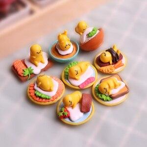 Huevos perezosos de Gudetama de Japón, juego de garaje de huevo perezoso, pequeños adornos, regalo creativo, caja ciega, bolsa