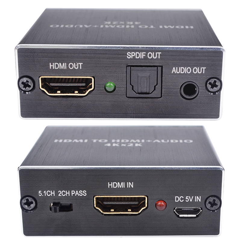 HDMI-совместимый аудио экстрактор + оптический TOSLINK SPDIF + 3,5 мм стерео аудио конвертер 4K x 2K аудио сплиттер для PS4 ТВ DVD