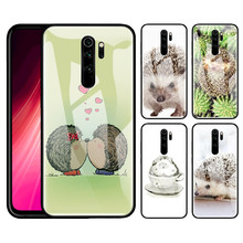 Hedgehog Cute In Teacup Tempered Glass Case for Xiaomi Redmi 7 8A 9T Note 7 8 8T K20 K30 Pro