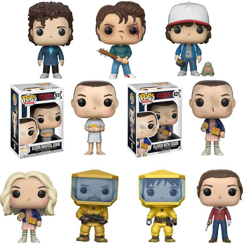Funko POP Stranger Things Eleven Eggos Dustin Collection Action Anime Figures PVC Doll Model Toys Gift For Kids Christmas Gifts